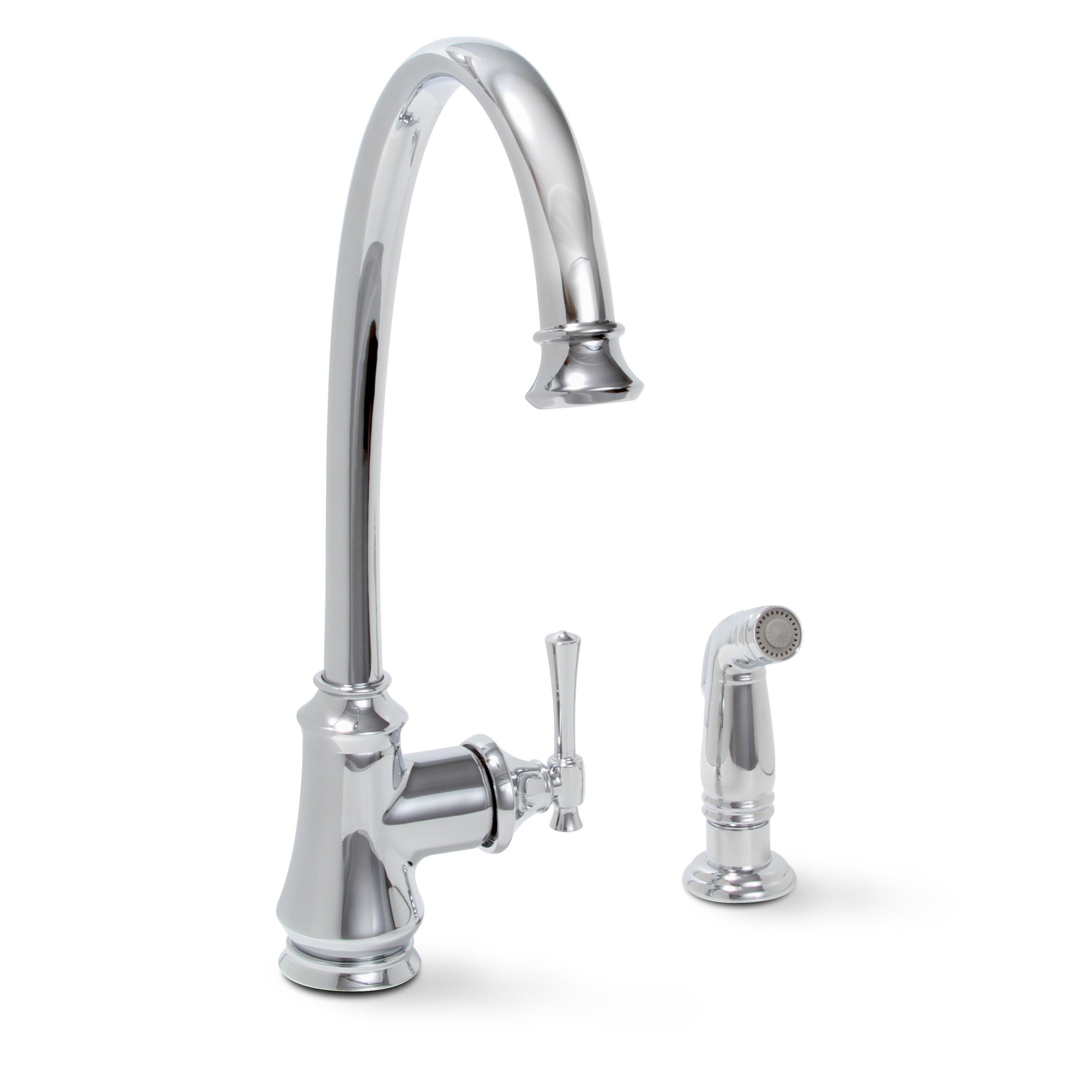 Premier Faucet Torino Single Handle Kitchen Faucet & Reviews Wayfair