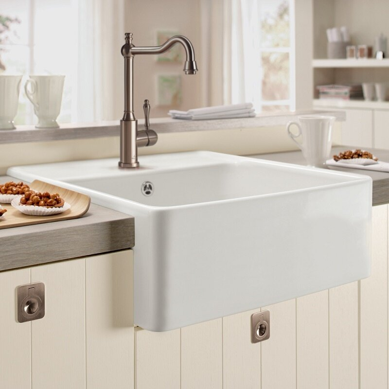 Villeroy & Boch Farmhouse 60cm x 50cm Single Bowl Kitchen Sink & Revi