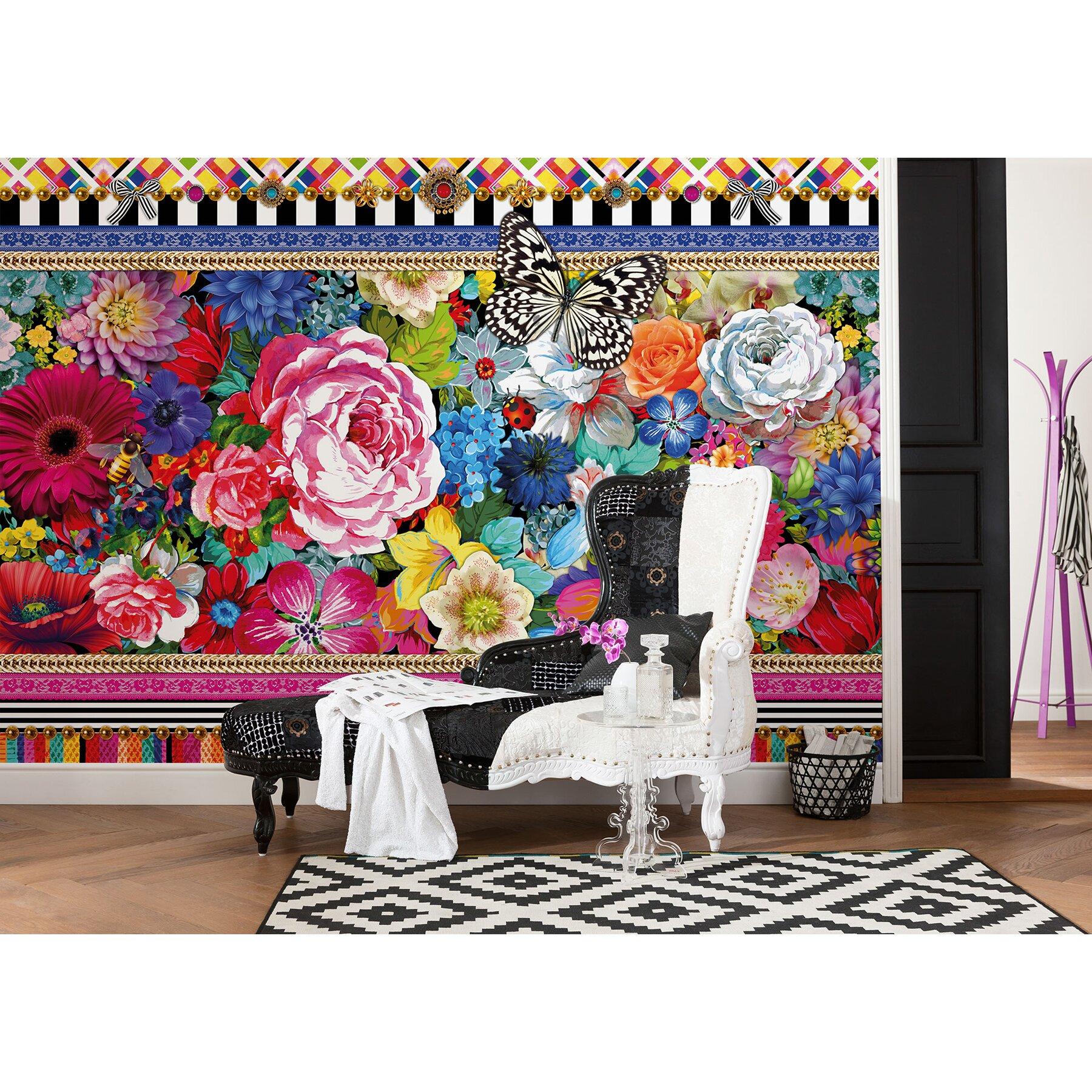 wallpops komar mellimello jema wall mural wayfair. Black Bedroom Furniture Sets. Home Design Ideas