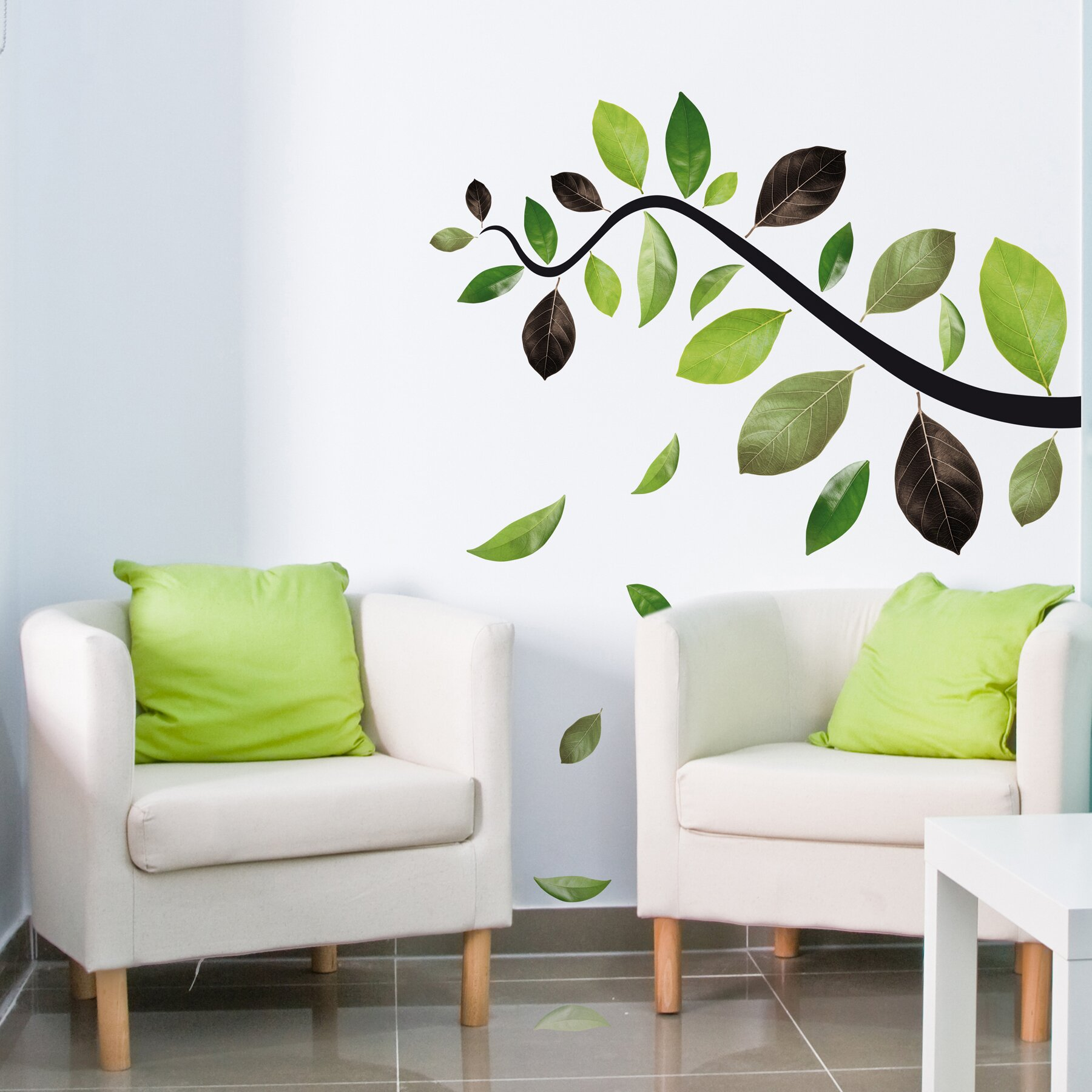 Wallpops Home Decor Line Falling Leaves Wall Decal Reviews Wayfair