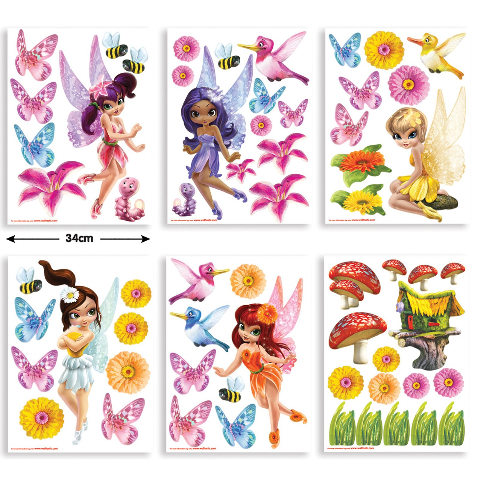 Wall Art Stickers Next Day Delivery : Wallpops walltastic wall art magical fairies decal