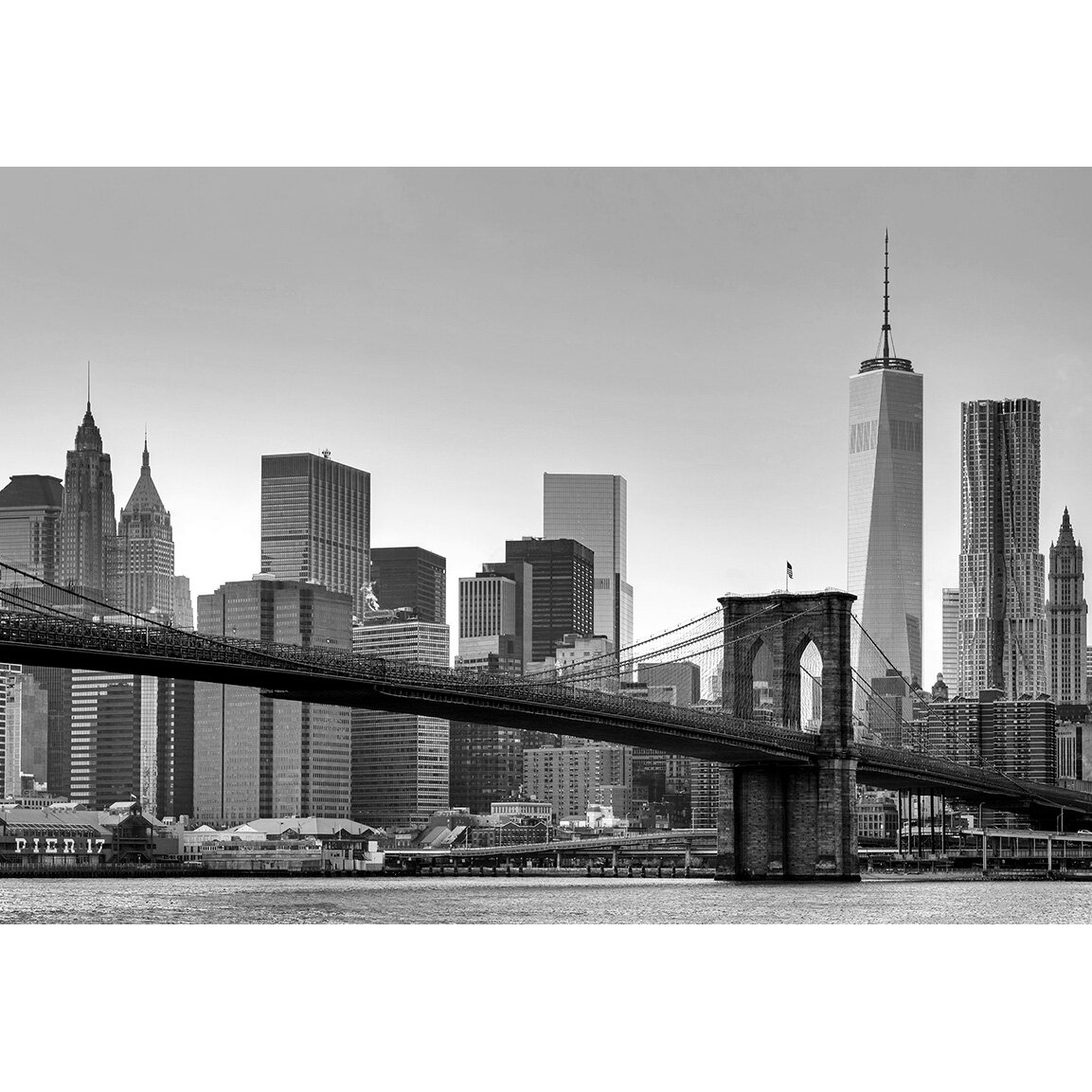wallpops new york wall mural amp reviews wayfair new york wall murals pictures to pin on pinterest