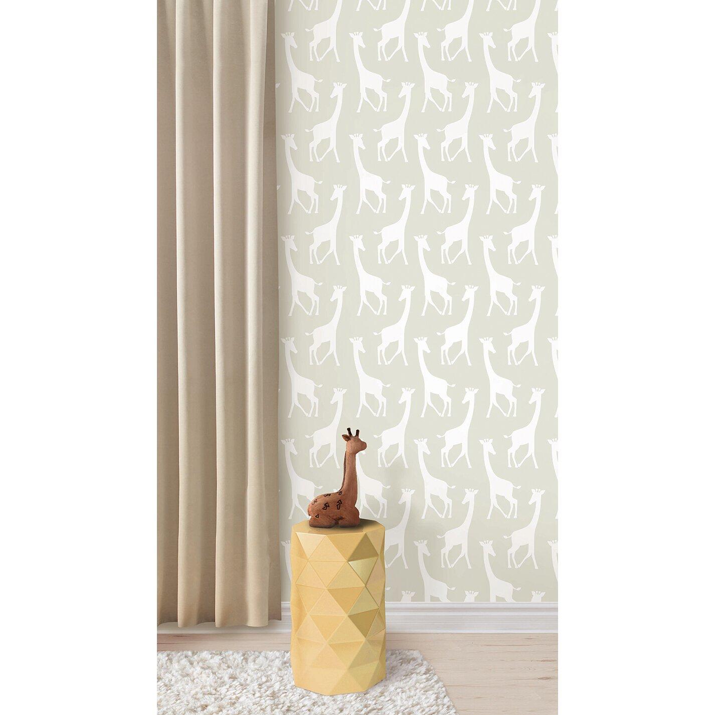 Wallpops savannah soiree peel and stick wallpaper for Self stick wallpaper
