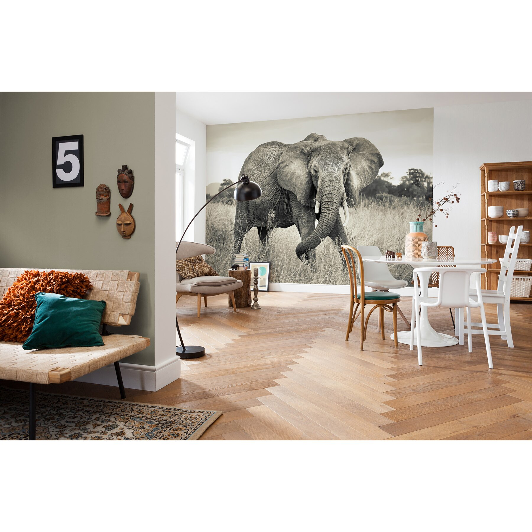 wallpops komar elephant wall mural wayfair