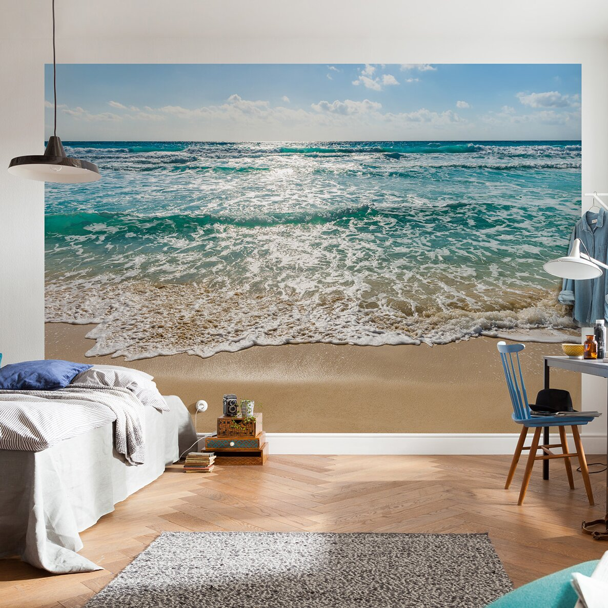 wallpops komar seaside wall mural reviews wayfair. Black Bedroom Furniture Sets. Home Design Ideas