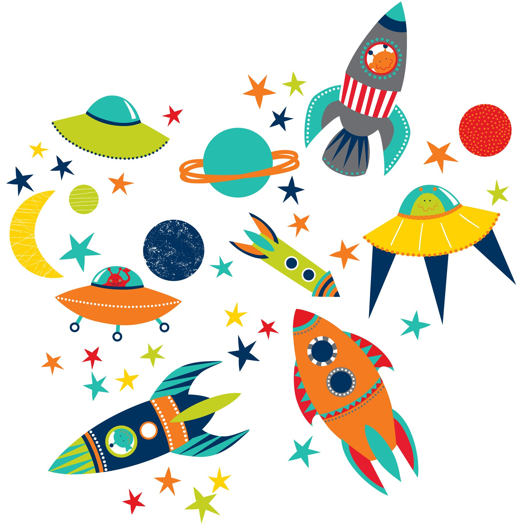 Wall Art Stickers Next Day Delivery : Wallpops wall art kit blast off decal reviews