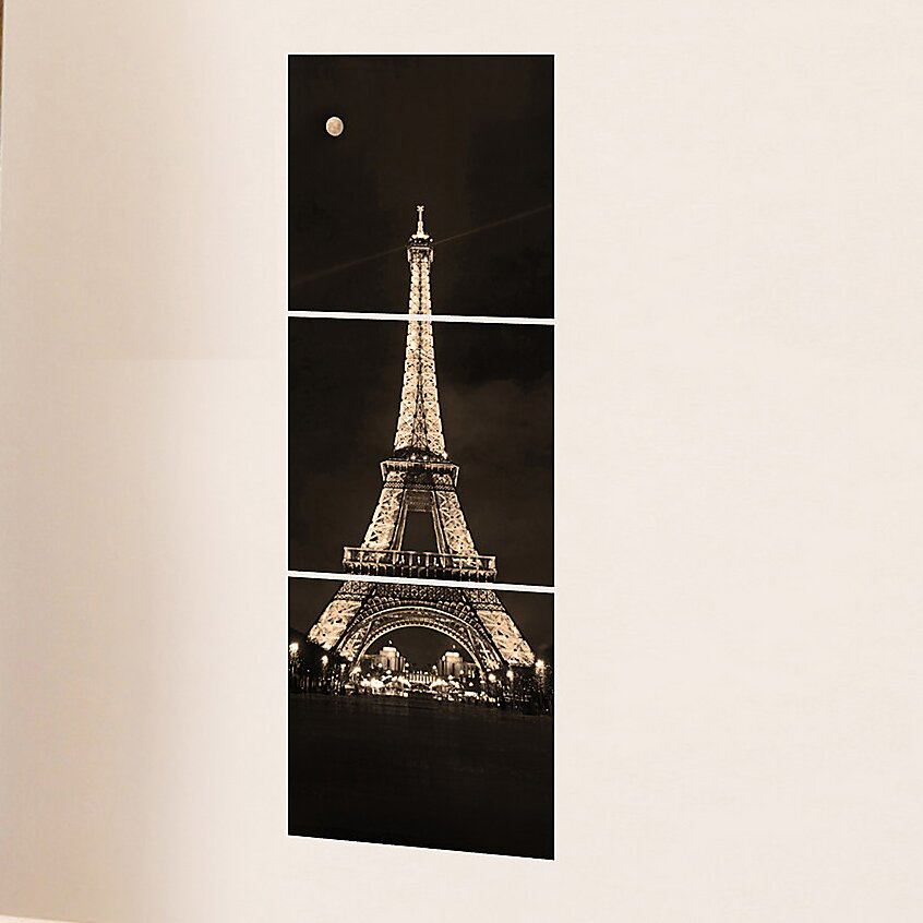 brewster home fashions euro tour eiffel panoramic wall decal reviews wayfair. Black Bedroom Furniture Sets. Home Design Ideas