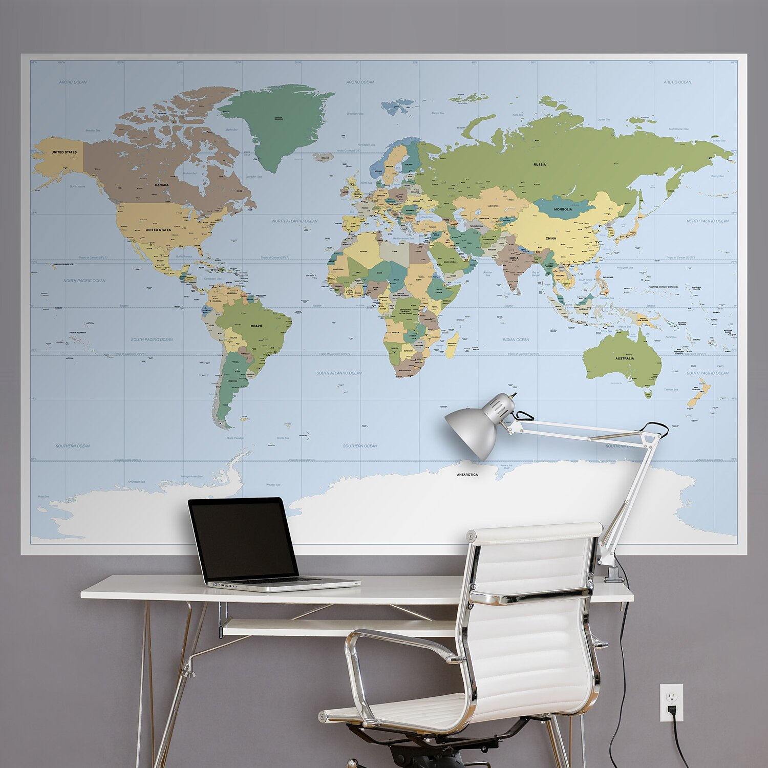Brewster home fashions komar world map wall mural for Brewster home fashions komar wall mural