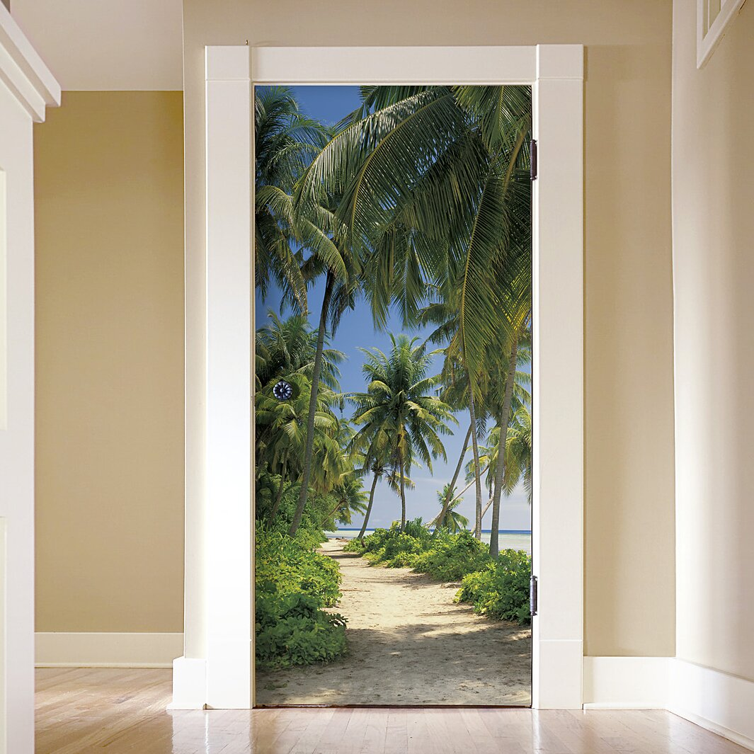 Brewster home fashions komar way to the beach wall mural for Brewster home fashions komar wall mural