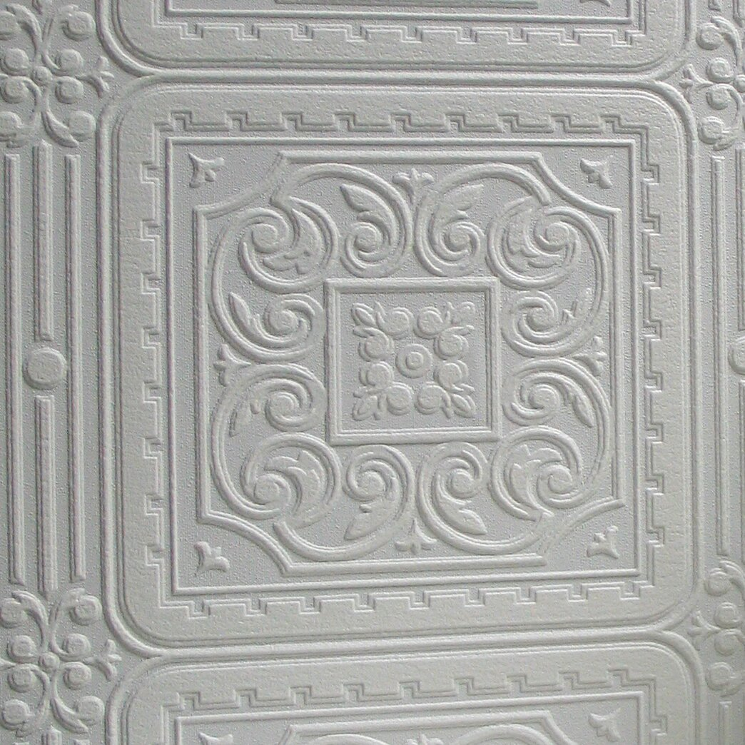 Brewster home fashions anaglypta paintable turner 33 39 x 20 for 3d embossed wallpaper