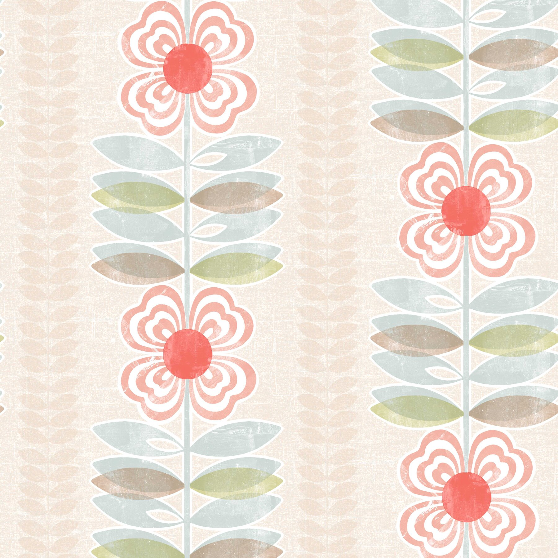 Brewster home fashions simple space ii 33 39 x 20 5 floral for 3d embossed wallpaper