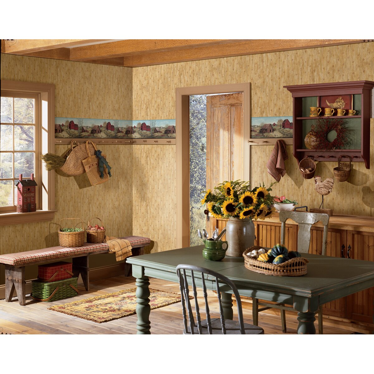 Brewster Home Fashions Borders by Chesapeake Rolling ...