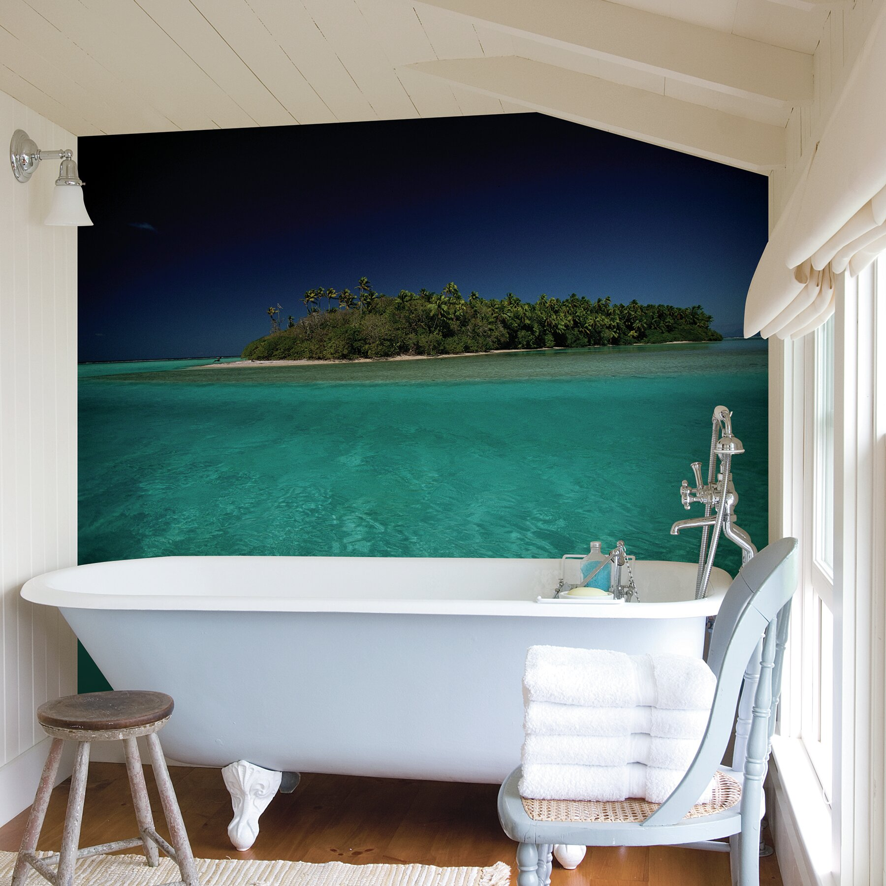 Brewster home fashions national geographic tropical island for Brewster home fashions wall mural