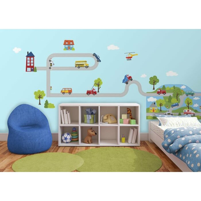 Brewster home fashions wallpops around town wall mural for Brewster home fashions wall mural