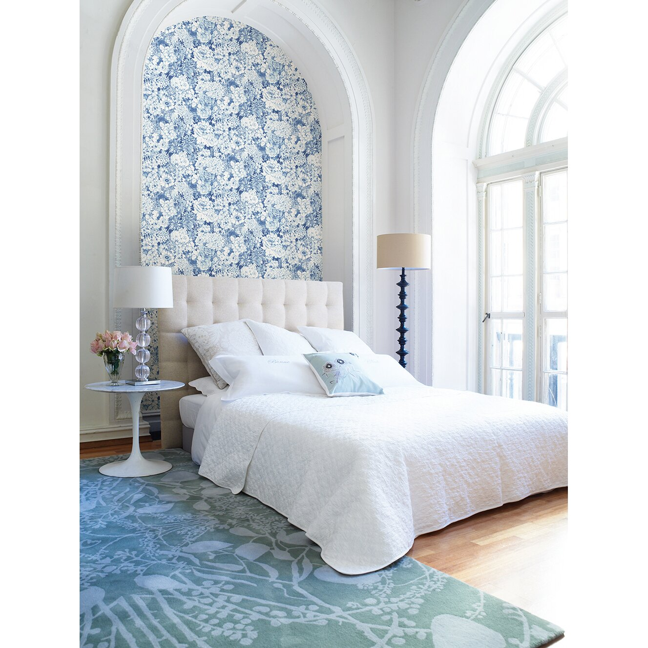 """Brewster Home Fashions 33' x 20.5"""" Dodge Floral Wallpaper ..."""