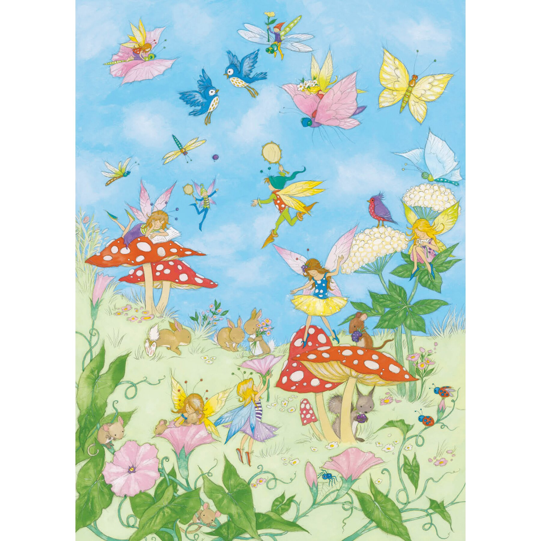 Brewster home fashions ideal decor fairy tales wall mural for Fairy tale wall mural