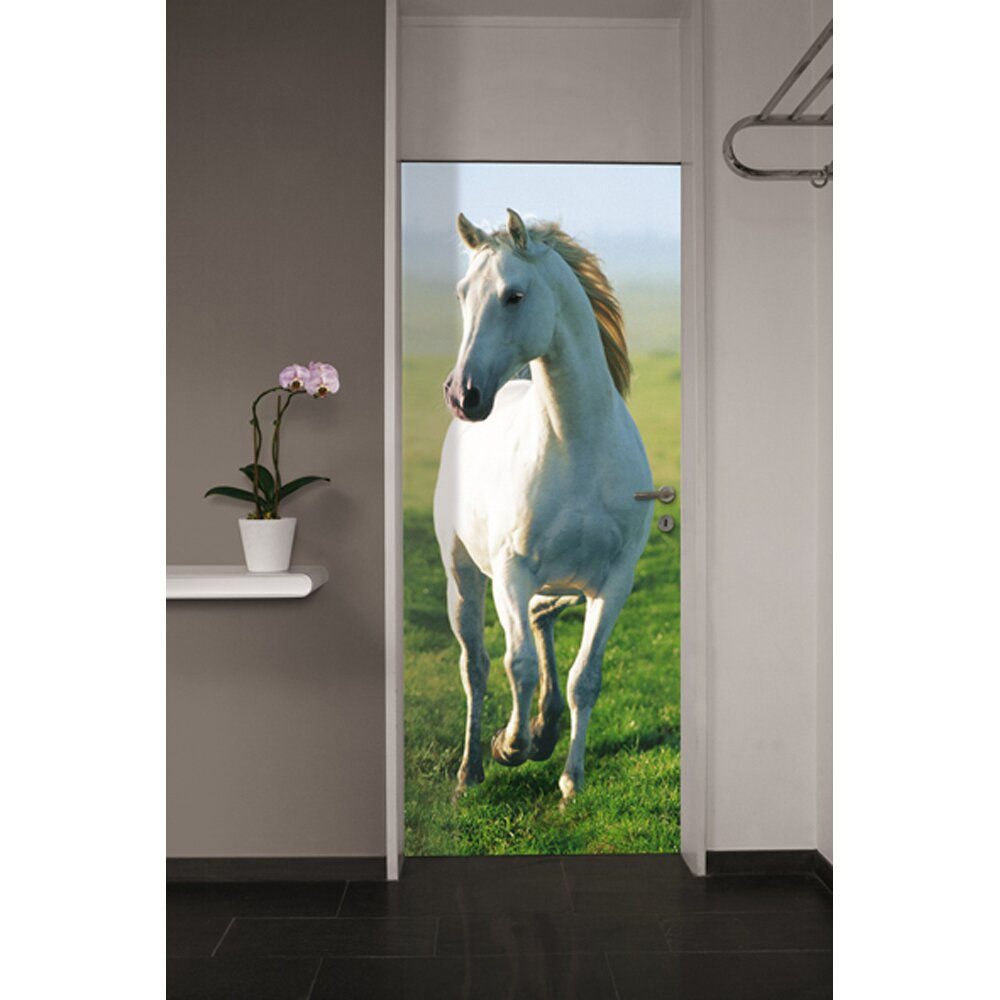 Brewster home fashions ideal decor horse wall mural for Equestrian wall mural
