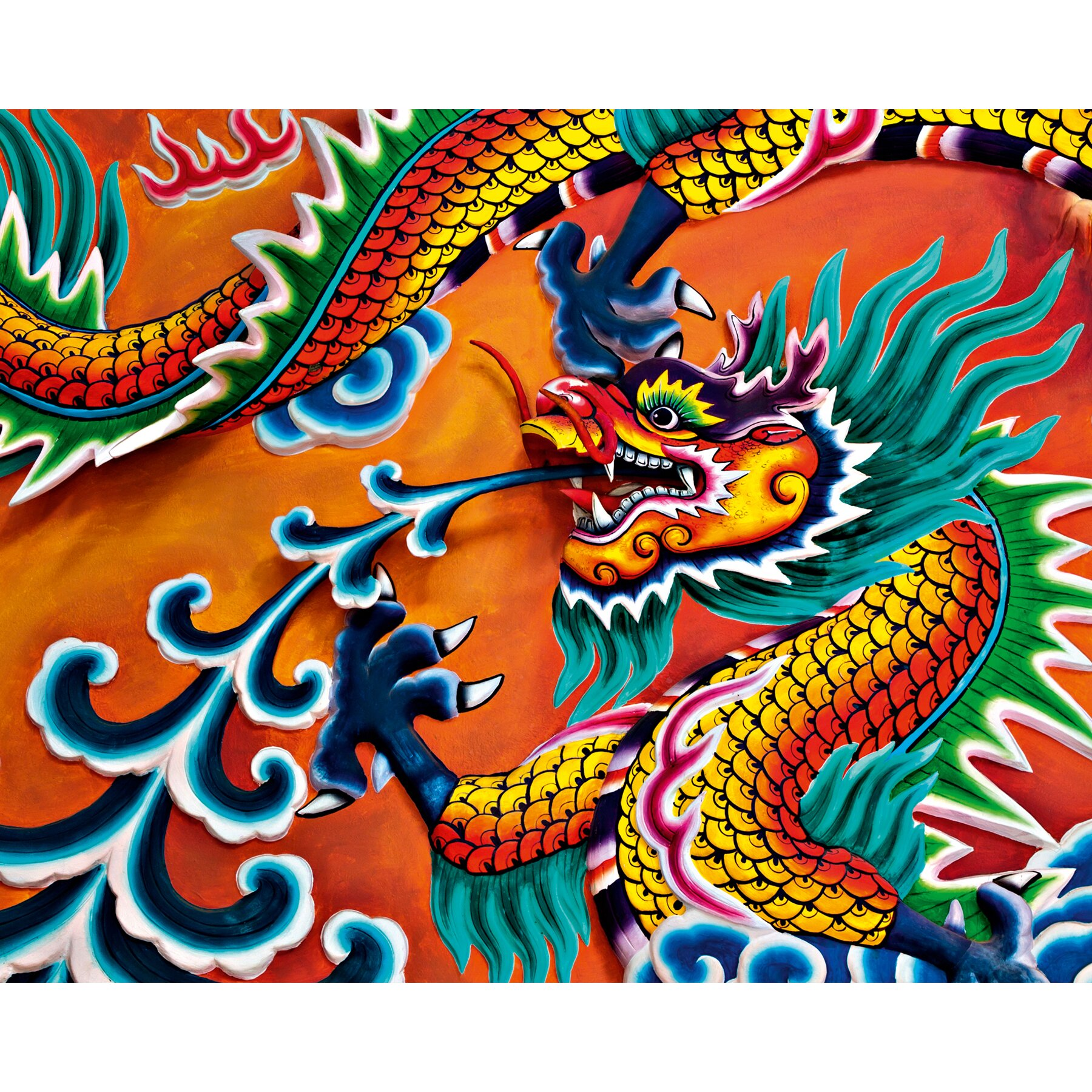 Brewster home fashions ideal decor dragon wall mural wayfair for Dragon mural for wall