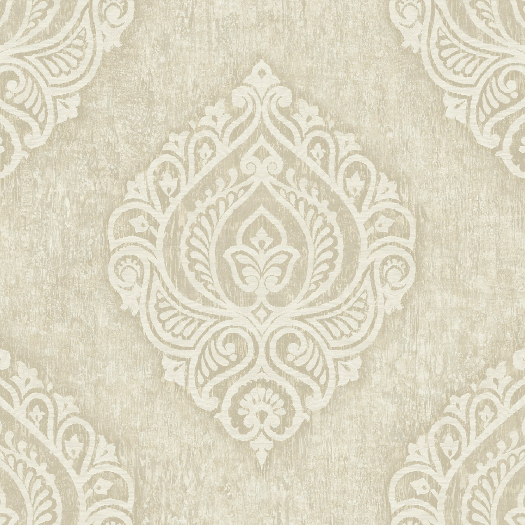 Brewster home fashions pompei theodor 33 39 x 20 5 damask for 3d embossed wallpaper