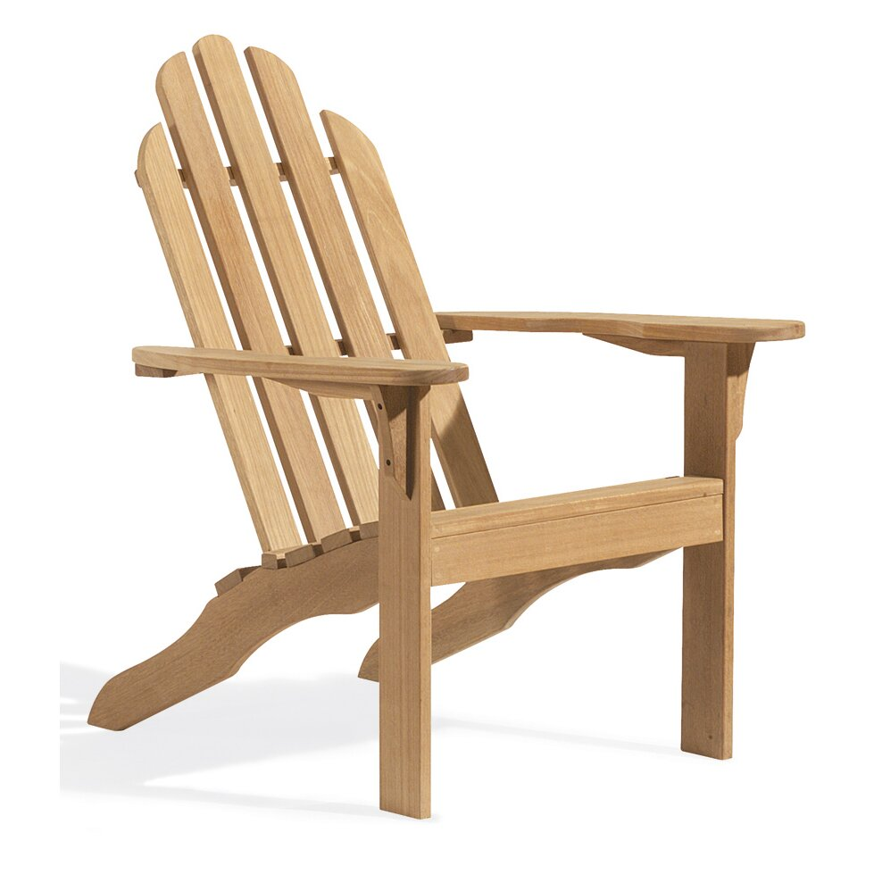 Oxford garden adirondack chair wayfair for Garden furniture chairs