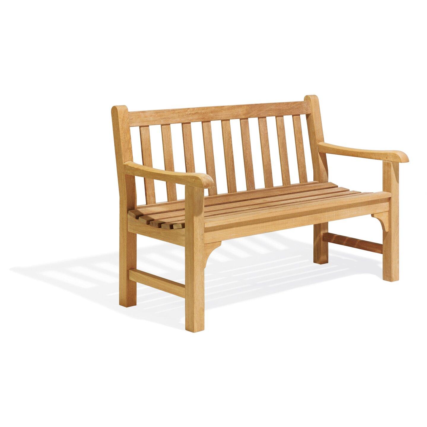 Oxford garden essex wood garden bench reviews wayfair for Outdoor furniture essex