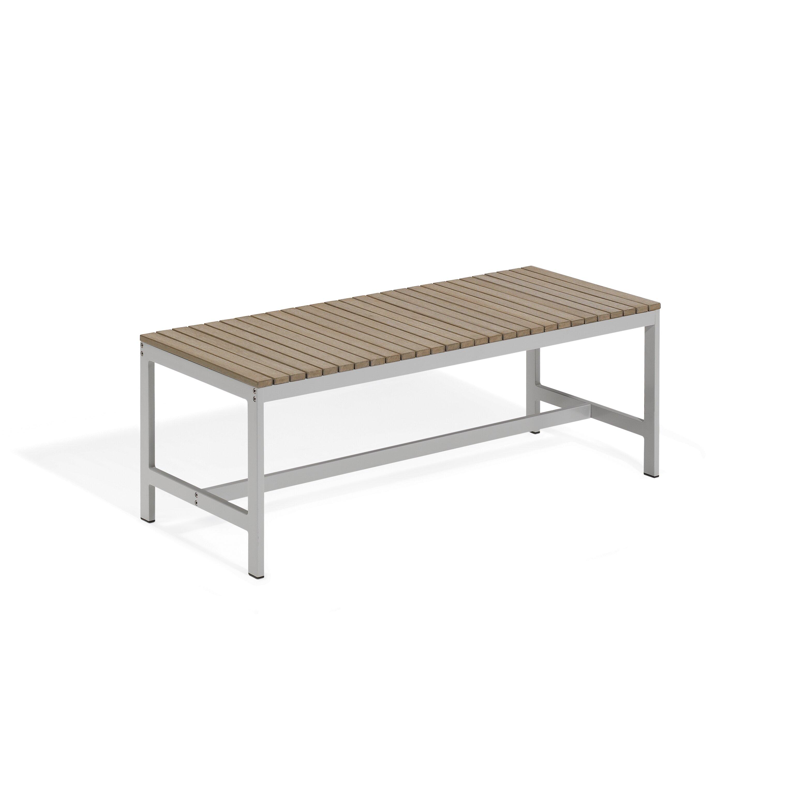Oxford Garden Travira Wood And Aluminum Picnic Bench Reviews Wayfair