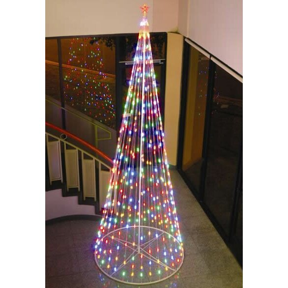 Homebrite Solar String Light Cone Tree Christmas Decoration with Multi-colored Lights & Reviews ...