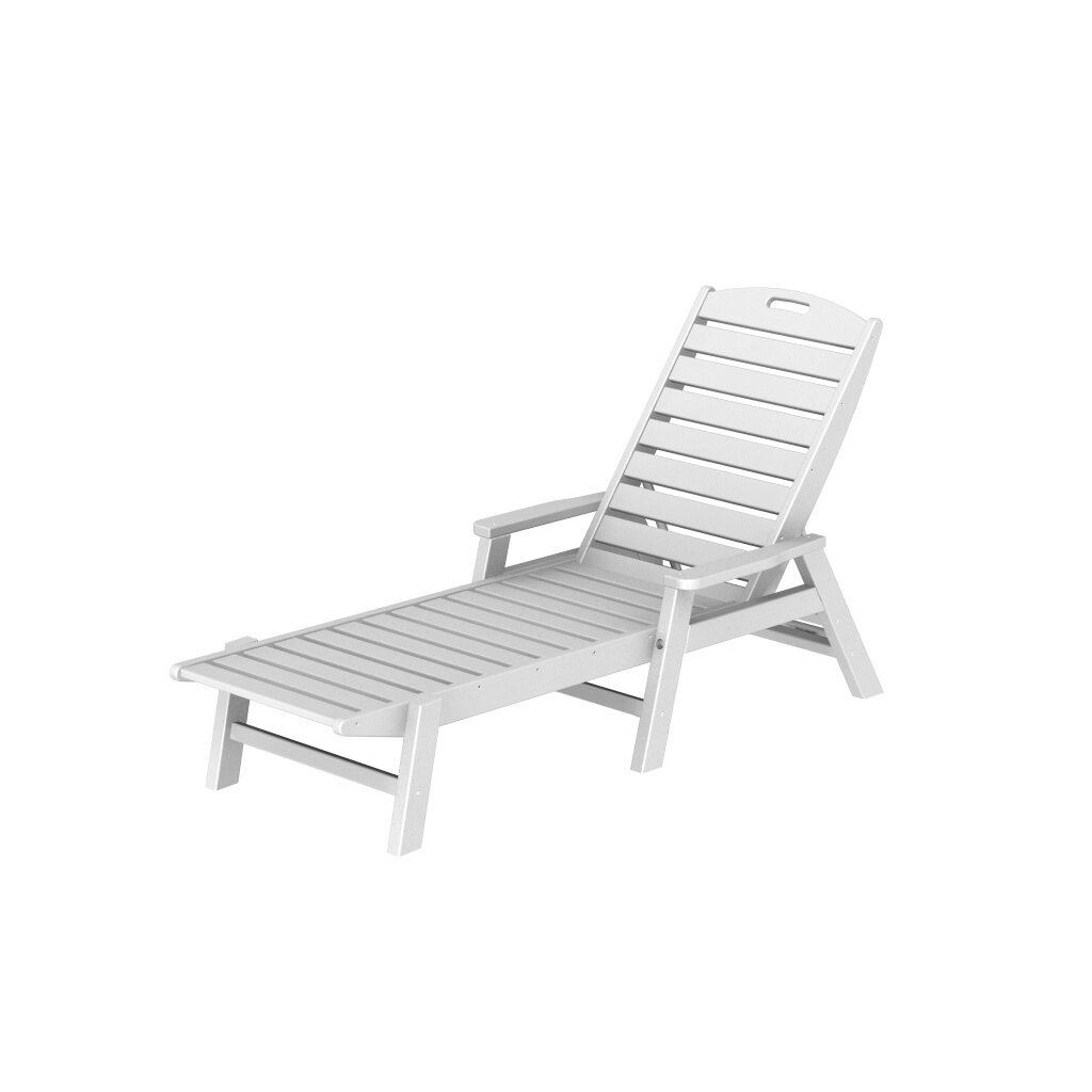 POLYWOOD Nautical Chaise Lounge & Reviews