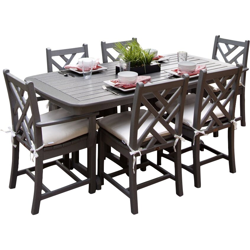 Polywood chippendale 7 piece dining set reviews wayfair for 7 piece dining set