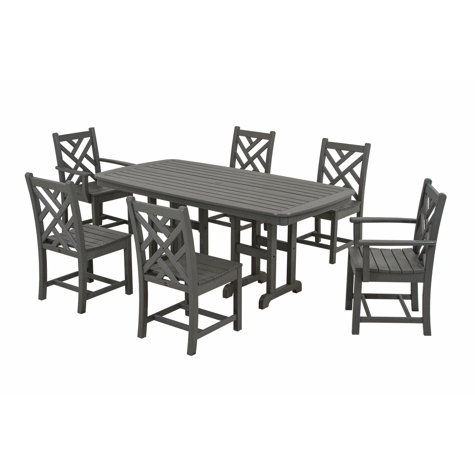 Very Impressive portraiture of POLYWOOD® Chippendale 7 Piece Dining Set & Reviews Wayfair with #423F3C color and 1600x1600 pixels