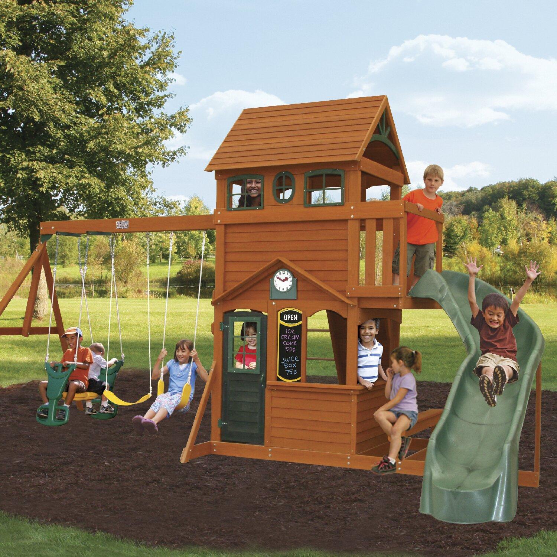 Big Backyard Ashberry Wooden Swing Set & Reviews | Wayfair