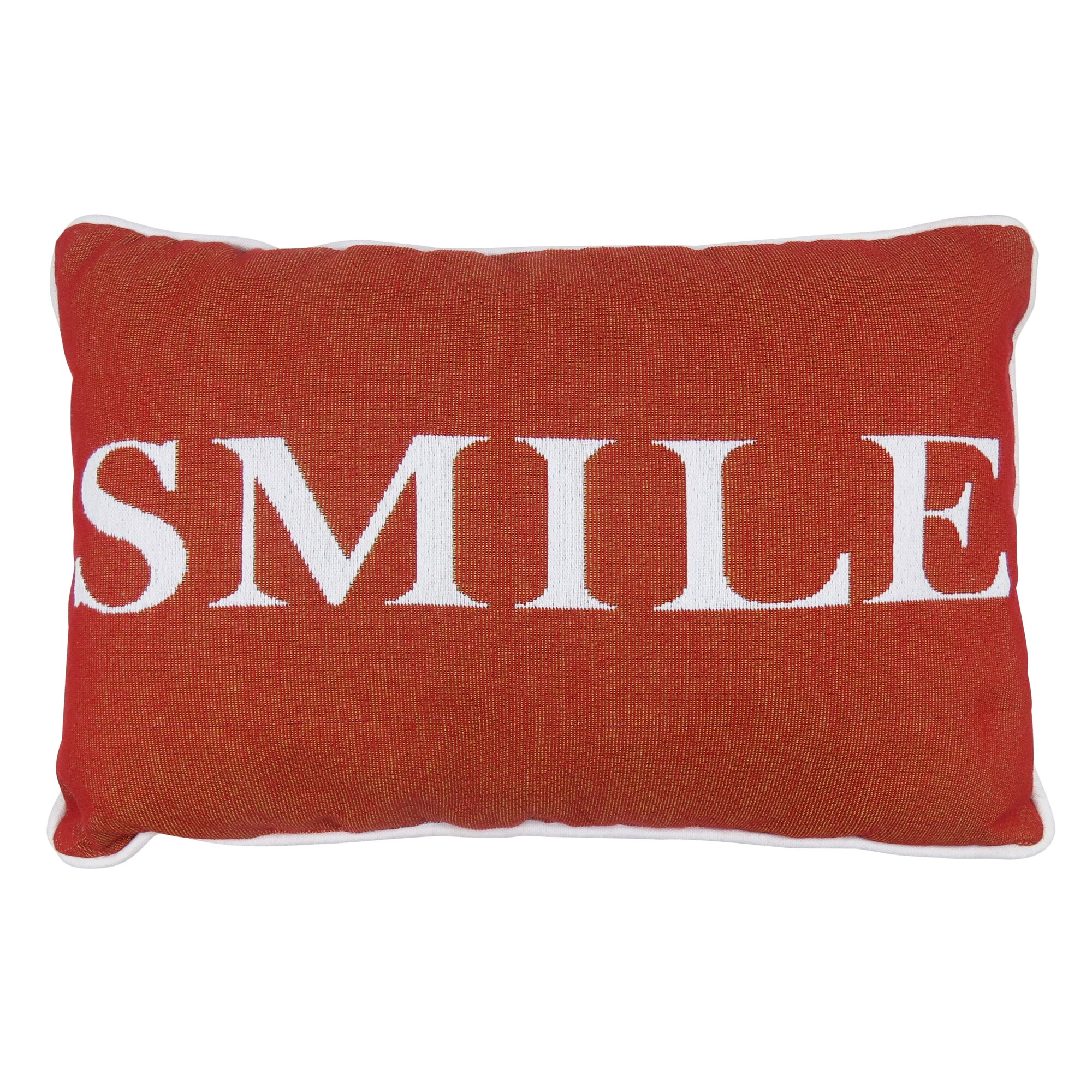 Decorative Tapestry Throw Pillows : Park B Smith Ltd Smile Tapestry Decorative Throw Pillow Wayfair
