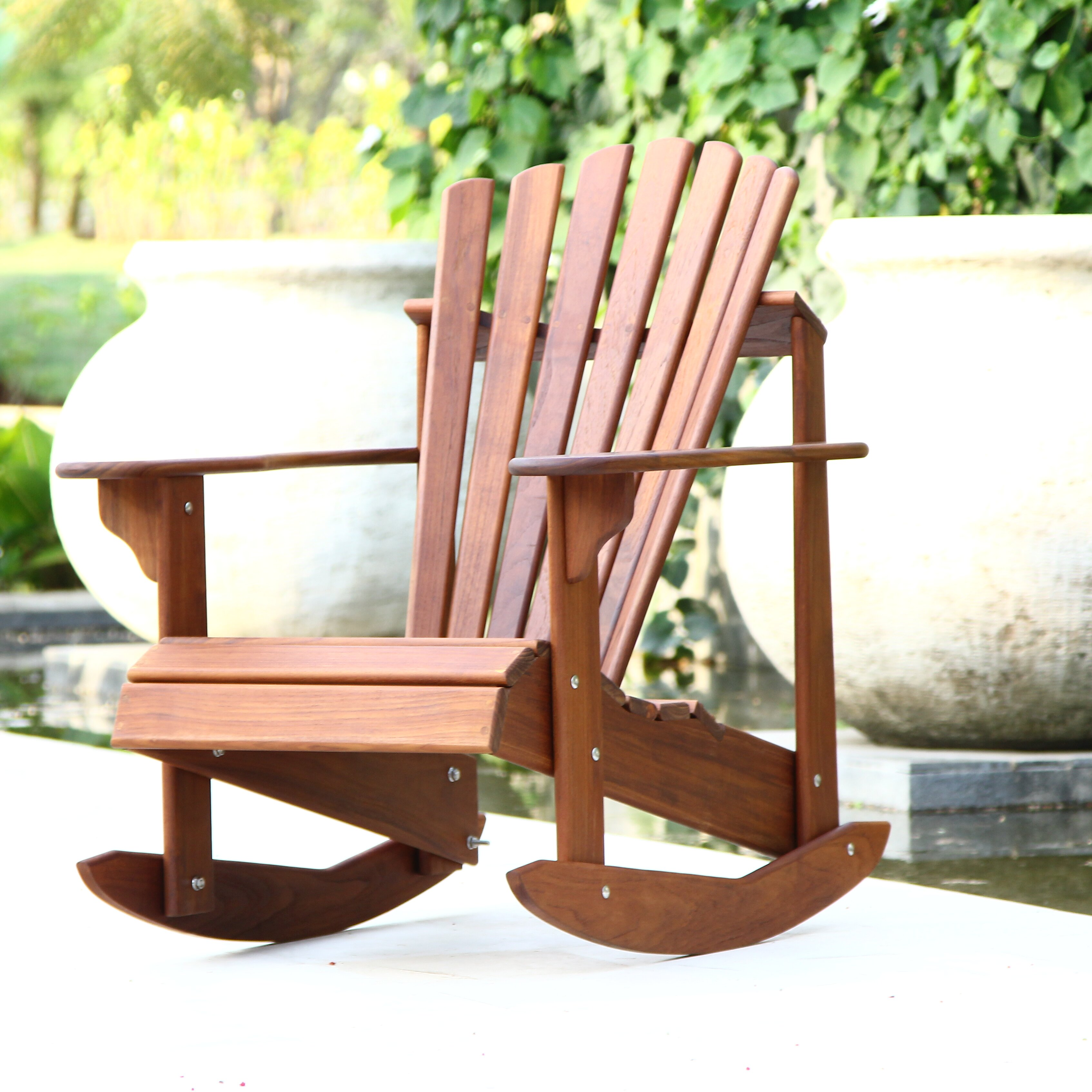 Hyres Country Signature Teak Adirondack Rocking Chair & Reviews ...