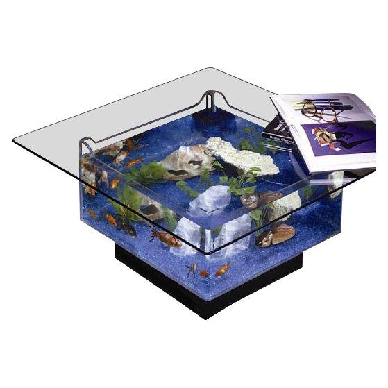 Midwest Tropical Fountain 25 Gallon Aqua Coffee Table Aquarium Tank Reviews Wayfair