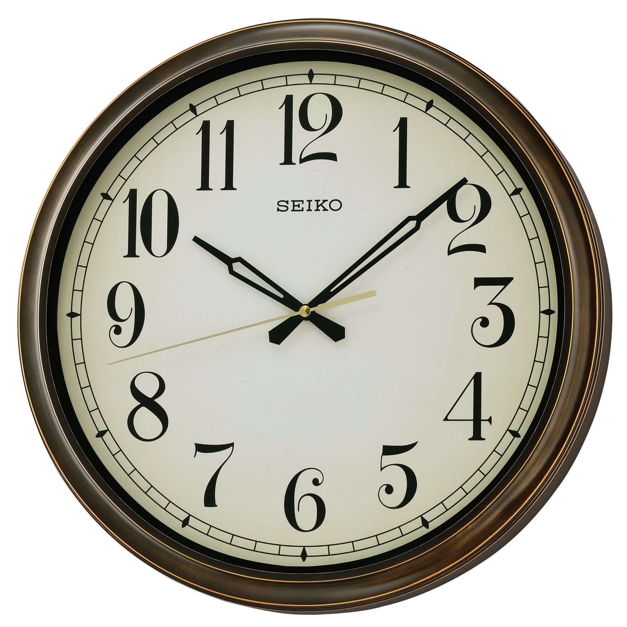 Seiko oversized 16quot weymouth indoor outdoor splash for Outdoor wall clocks sale