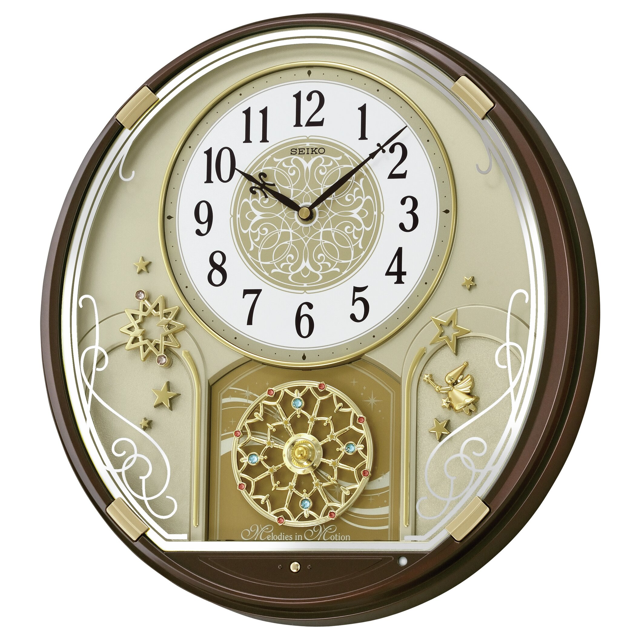 seiko melodies in motion starry night musical wall clock