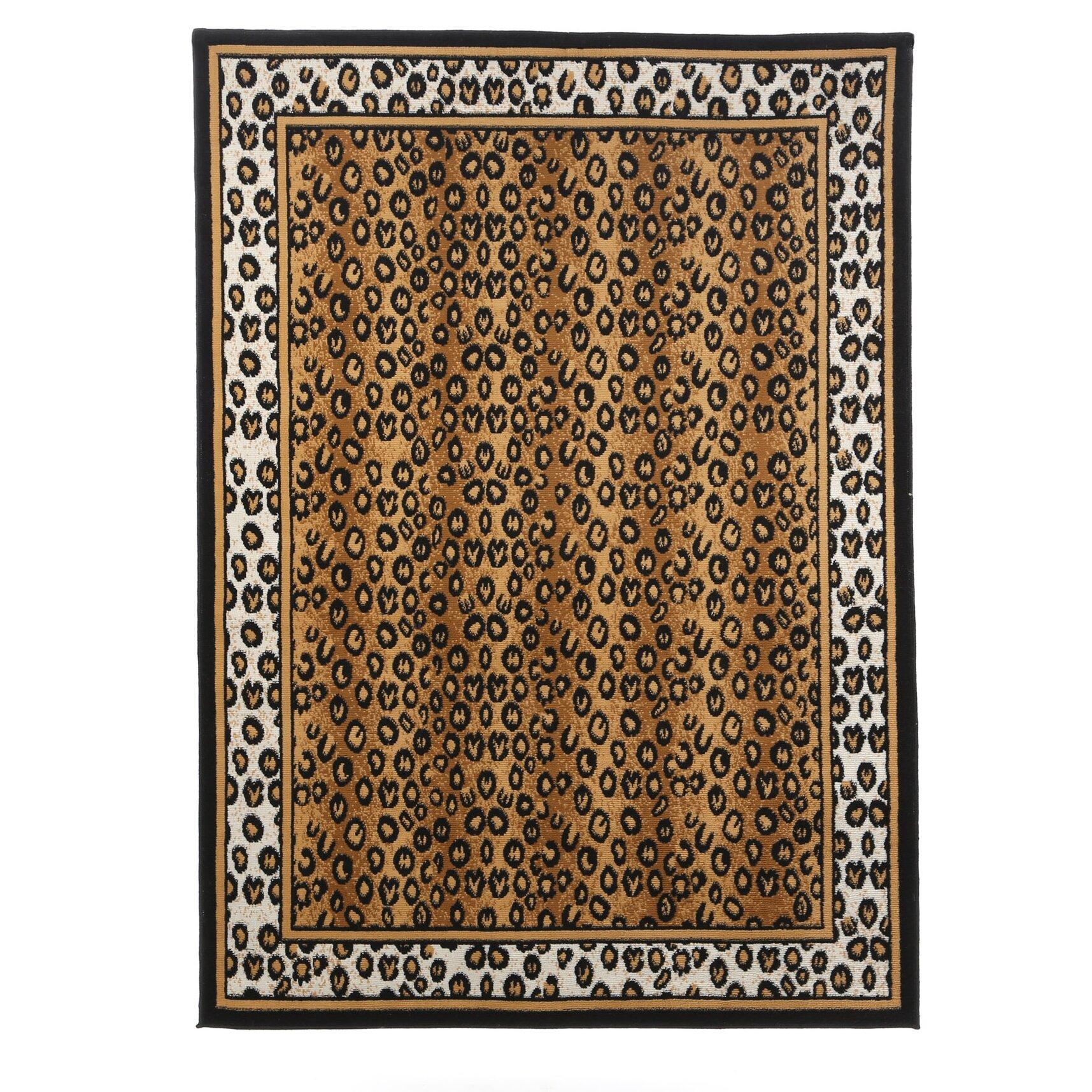 Animal Print Rug Wayfair: Home Dynamix Zone Leopard Brown Area Rug & Reviews