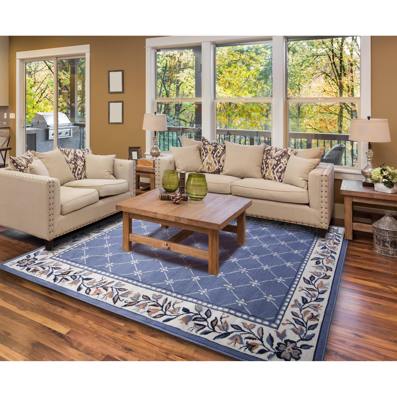 Home Dynamix Geometric Country Blue Area Rug & Reviews