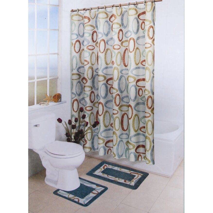 Bath Boutique 15 Piece Shower Curtain Set