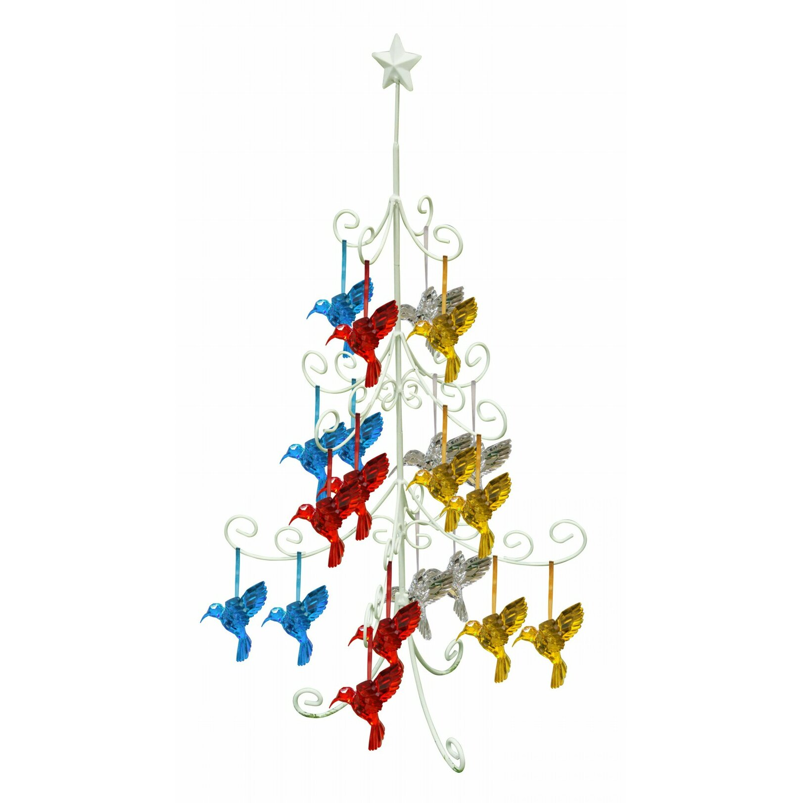 Alpine tree hanging decoration metal stand wayfair for Alpine decoration