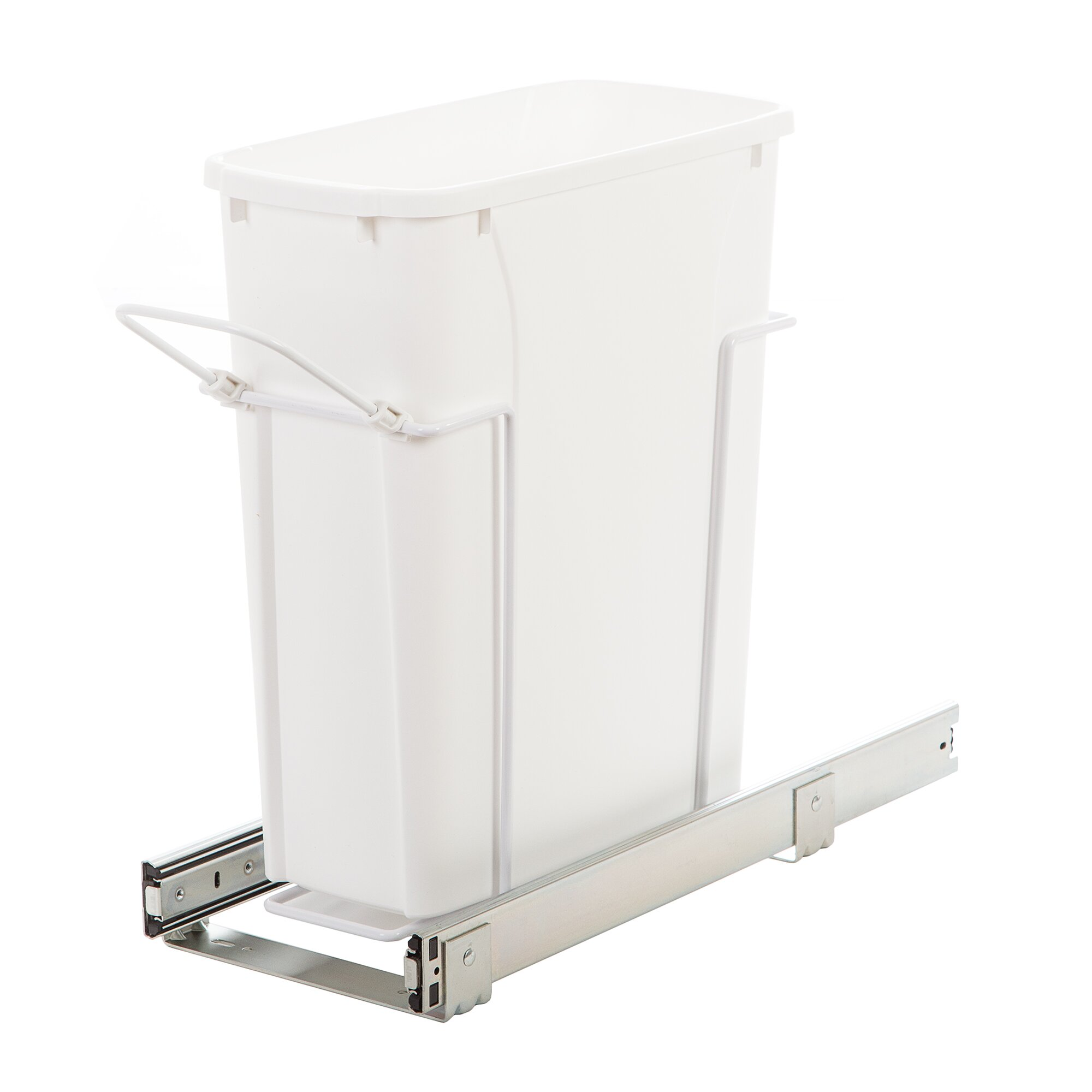 In Cabinet Pull Out Bottom Mount Trash Can Garbage Bin Kitchen Waste Container Ebay