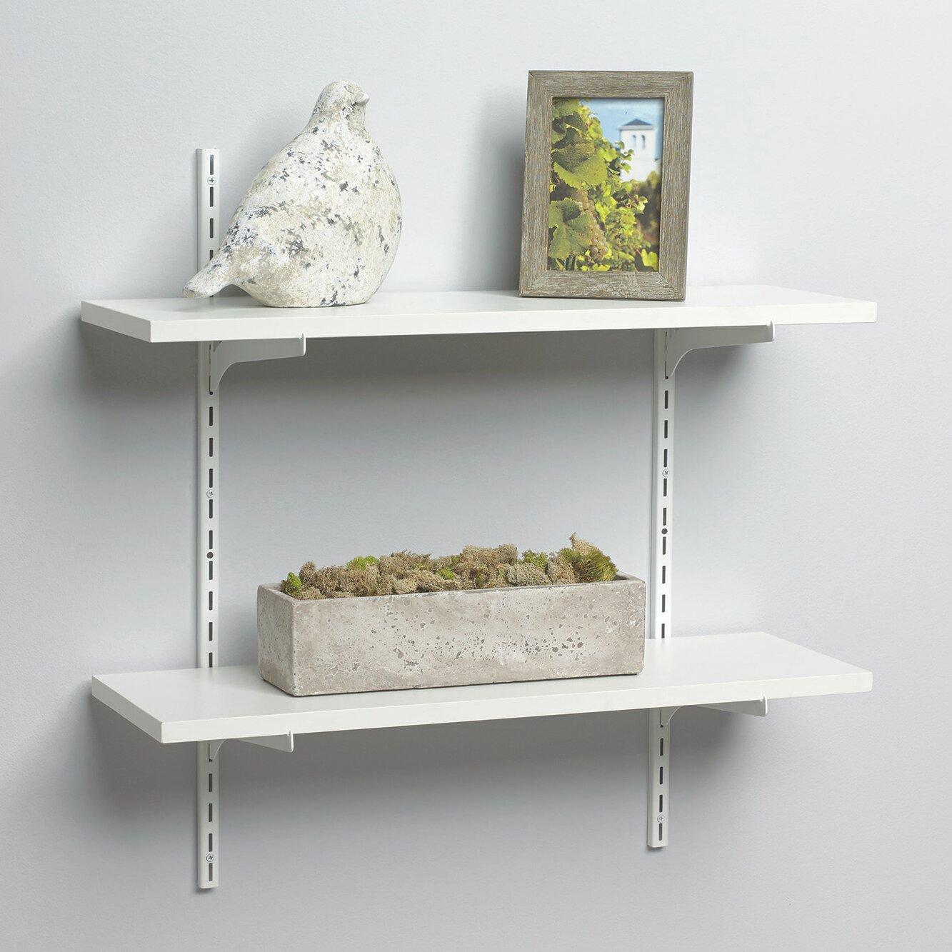 knape vogt standard and bracket decorative shelf kit reviews wayfair. Black Bedroom Furniture Sets. Home Design Ideas