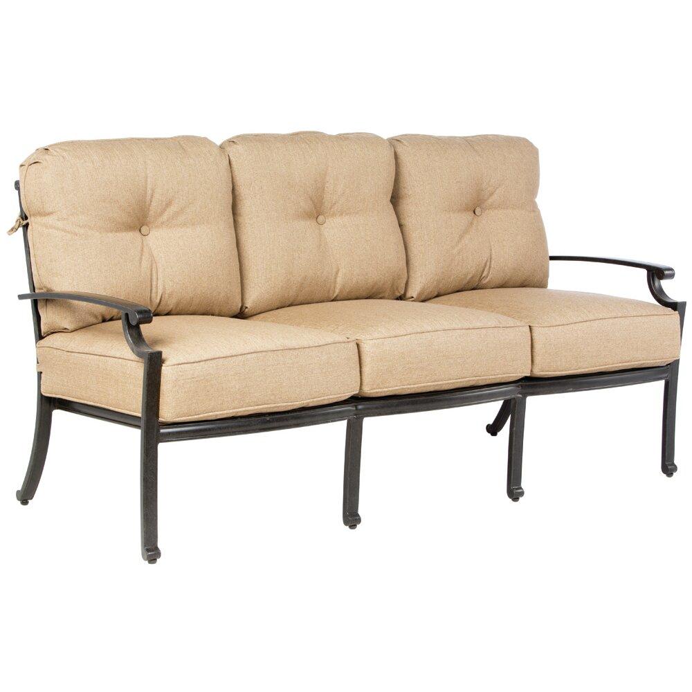 Alfresco Home Lattice Deep Seating Sofa With Cushions