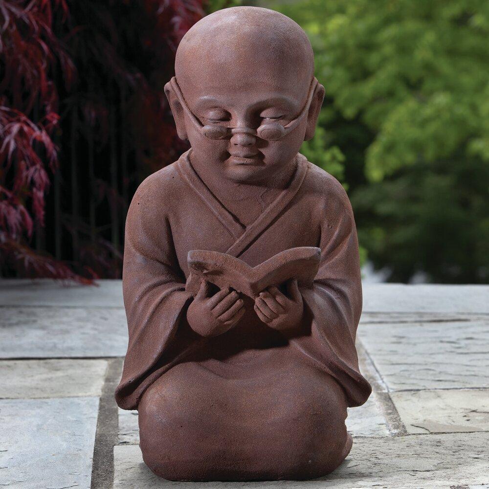 Alfresco Home Reading Buddha Statue & Reviews | Wayfair
