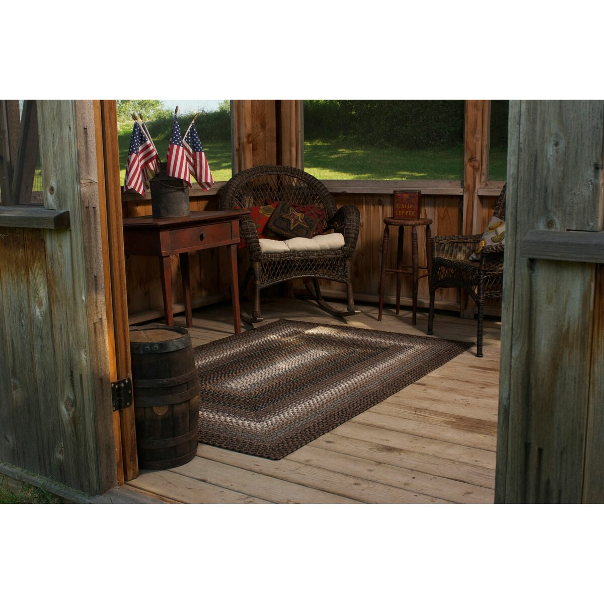 Garden Decor Nutty Rug: Homespice Decor Ultra-Durable Driftwood Indoor/Outdoor Rug