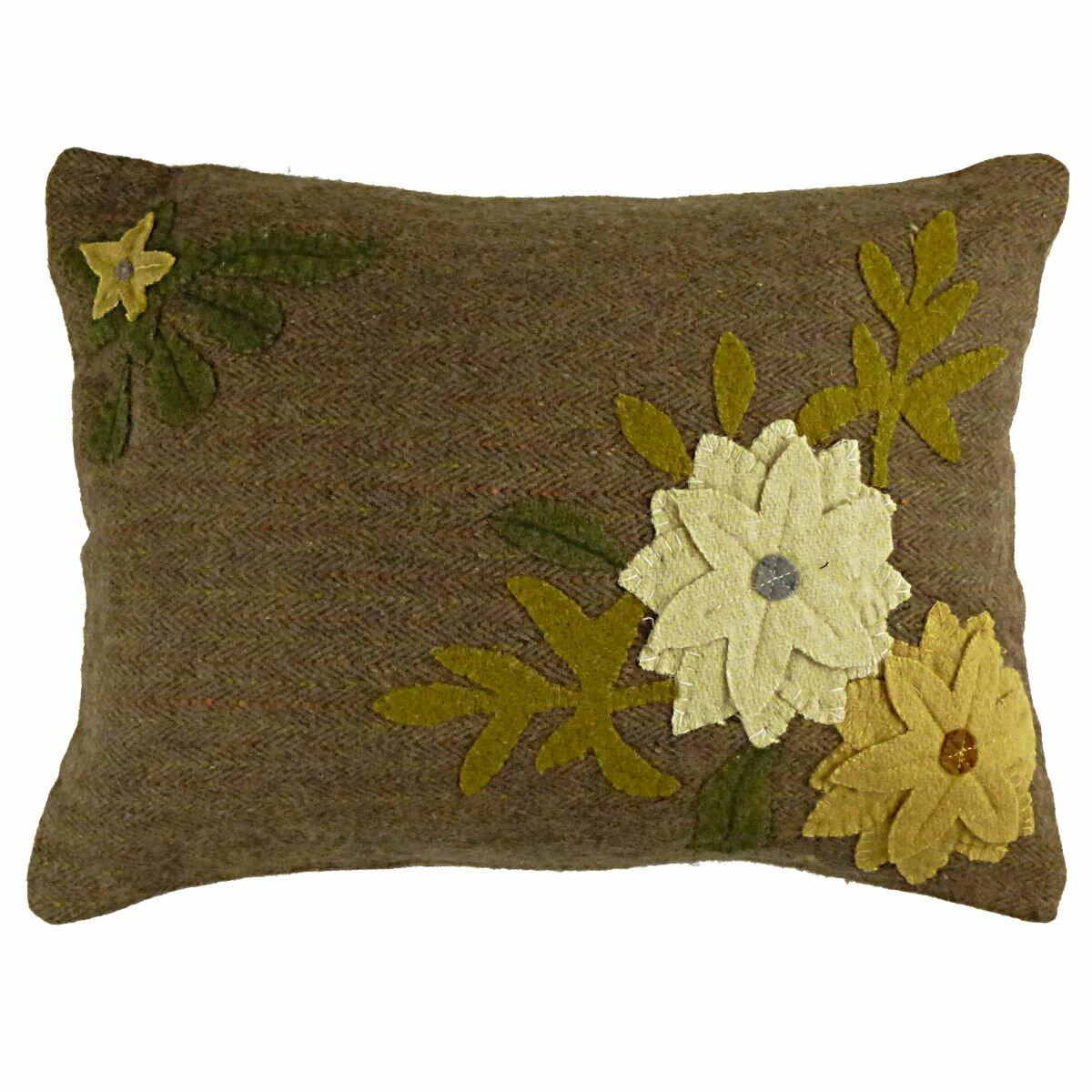 Decorative Primitive Pillows : Homespice Decor Primitive Daffodil Lumbar Pillow Wayfair