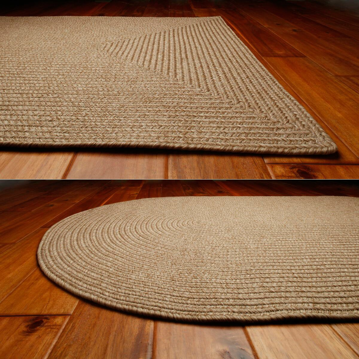 Homespice decor ultra durable sand indoor outdoor rug for Indoor out door rugs