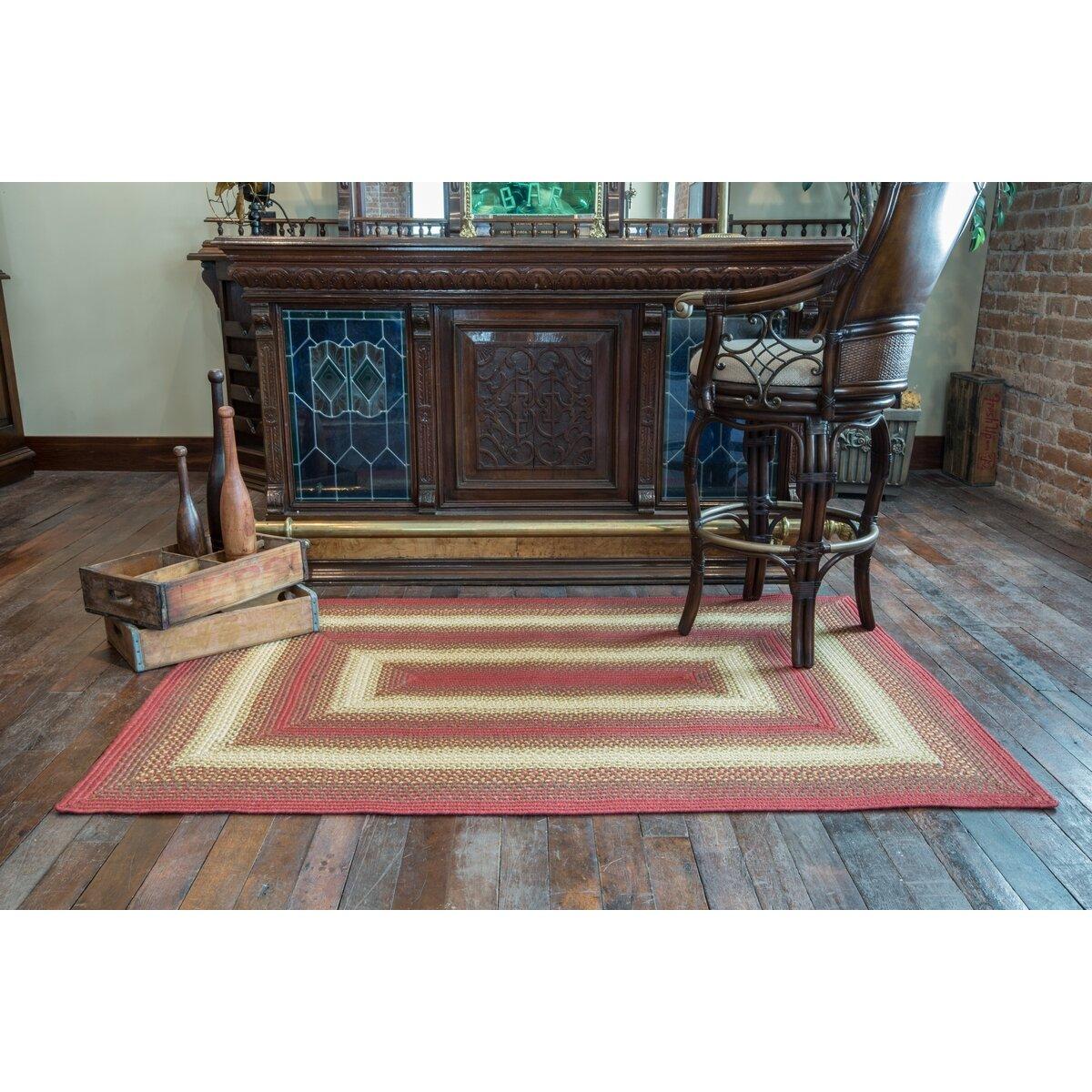 Homespice Decor Santa Clara Red Indoor Outdoor Area Rug