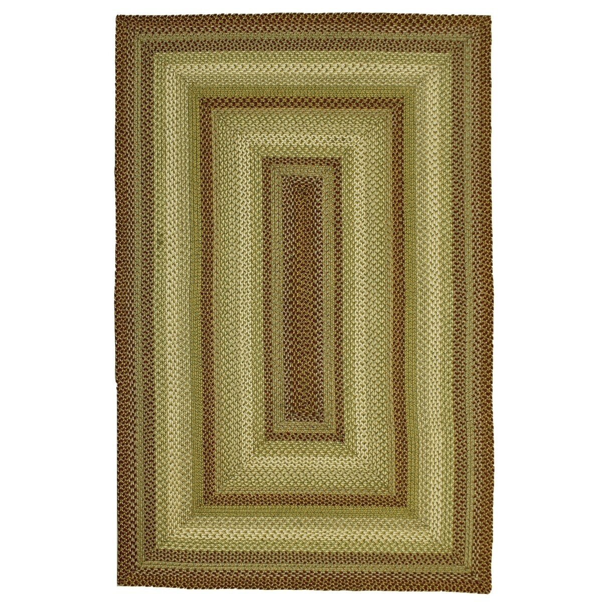 Homespice Decor Winter Wheat Green Indoor Outdoor Area Rug