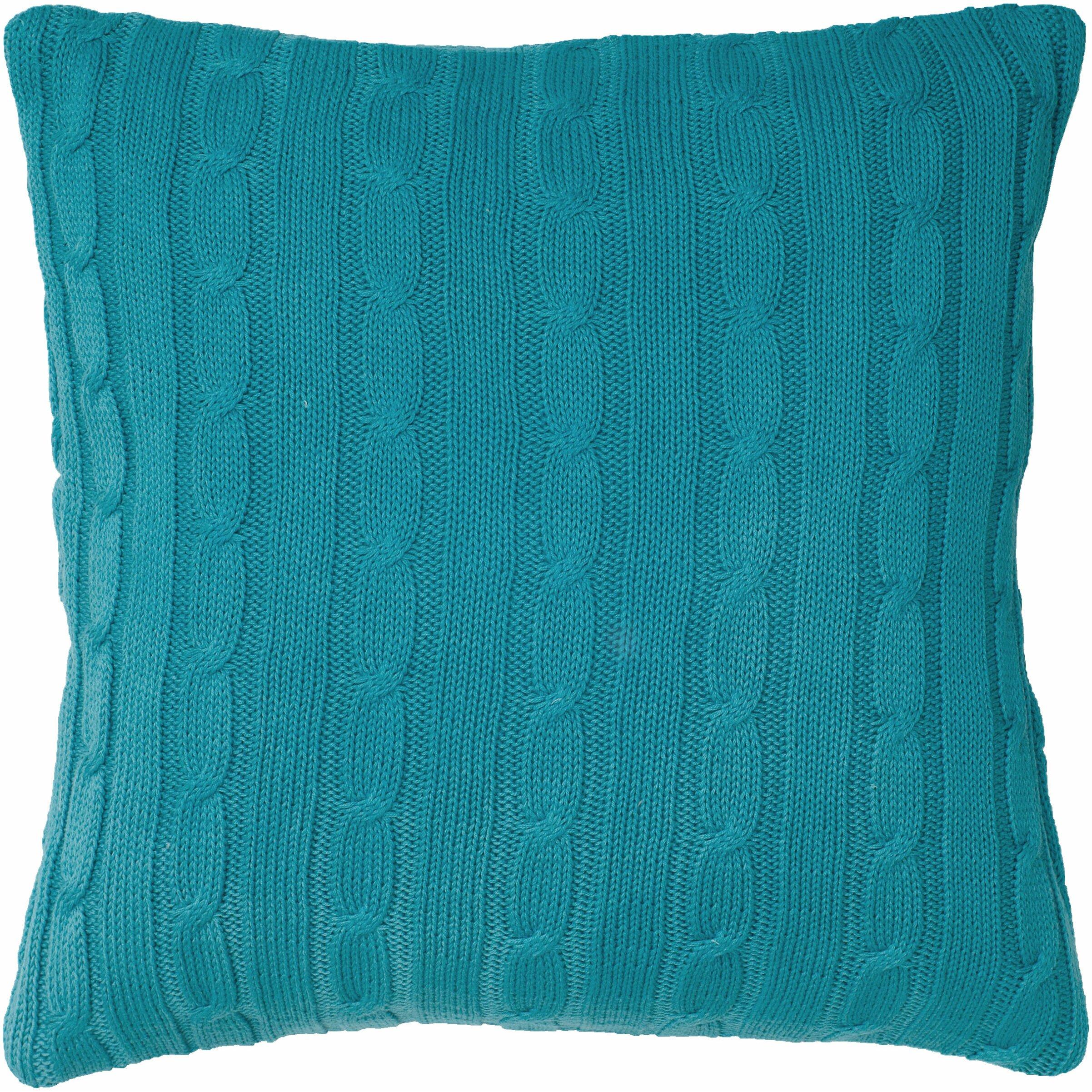 Wildon Home Cable Knit Wooden Button Closure Throw Pillow & Reviews Wayfair